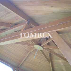 Kontrukcja dachu altany ogrodowej