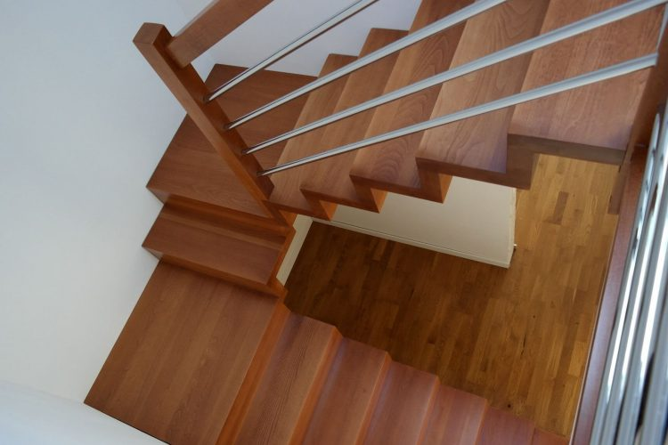 schody z dwoma zabiegami